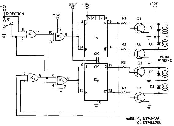 Направление вращения двигателя