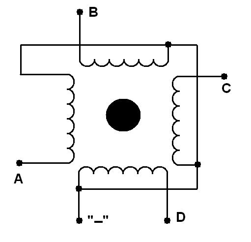Униполярный шаговый двигатель